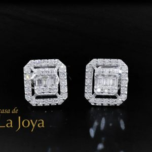 diamond baguette and round diamond earrings 0,50 carat dfa0003-2 1