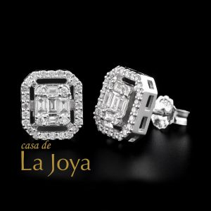 diamond baguette and round diamond earrings 0,62 carat bgc0002-8