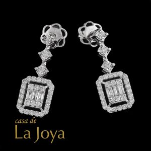 diamond baguette and round diamond earrings 0,77 carat btk0276-2