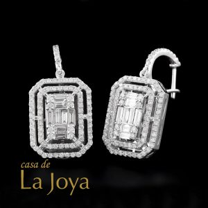 diamond baguette and round diamond earrings 1,88 carat btk0351-1