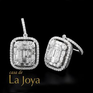diamond baguette and round diamond earrings 2,37 carat btk0344-1