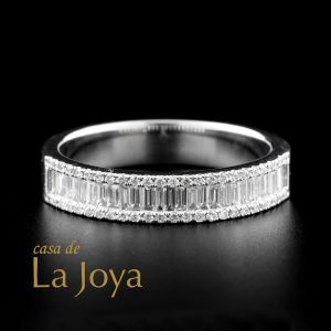 diamond baguette and round diamond eternity ring 0,62 carat btk0272-2-1
