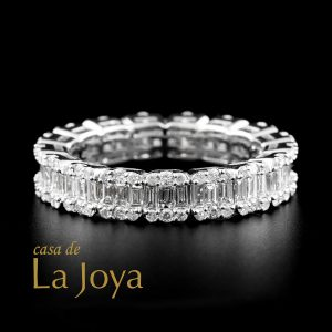 diamond baguette and round diamond eternity ring 2,12 carat btk0271-2-1