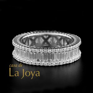 diamond baguette and round diamond eternity ring 2,20 carat btk0358-2-1