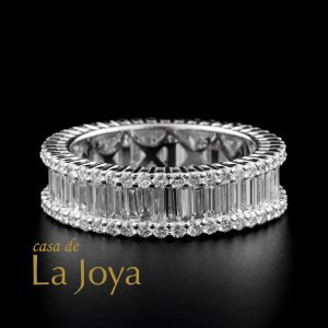 diamond baguette and round diamond eternity ring 3,63 carat btk0374-2-1