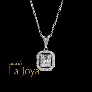 diamond baguette and round diamond necklace 0,31 carat bgc0001-6