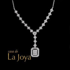 diamond baguette and round diamond necklace 0,58 carat btk0275-2