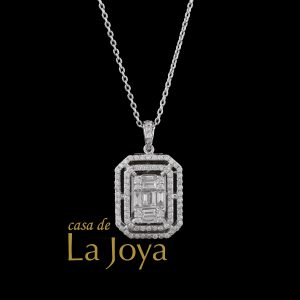 diamond baguette and round diamond necklace 0,91 carat btk0350-1