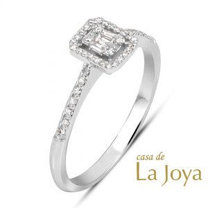 diamond baguette and round diamond ring 0,24 carat bgb0001-5