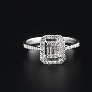 diamond baguette and round diamond ring 0,35 carat dfa0001-8-1