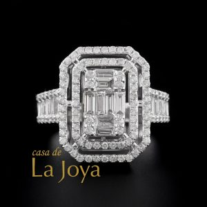 diamond baguette and round diamond ring 1,23 carat btk0352-1-1