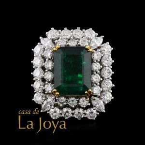 diamond colombian emerald diamond estate ring 18,08 carat fnz0332-1-1